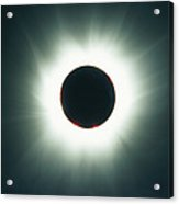 A Total Solar Eclipse Over France Acrylic Print
