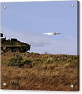 A Tow Missile Is Launched From An Acrylic Print