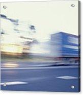 A Tractor Trailer Speeding Acrylic Print