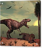 A Triceratops Falls Victim Acrylic Print