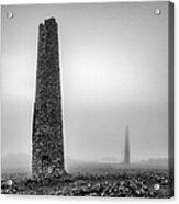 A Twin Cornish Mine Chimneys Acrylic Print