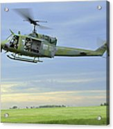 A Uh-1n Huey Helicopter Prepares Acrylic Print