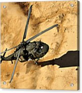 A Uh-60 Black Hawk Helicopter Comes Acrylic Print