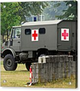 A Unimog In An Ambulance Version In Use Acrylic Print