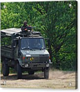 A Unimog Vehicle Of The Belgian Army Acrylic Print by Luc De Jaeger
