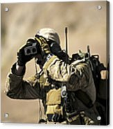 A U.s. Air Force Combat Controller Uses Acrylic Print