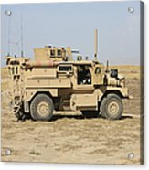 A U.s. Army Cougar Mrap Vehicle Acrylic Print
