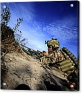 A U.s. Army Soldier Provides Supporting Acrylic Print