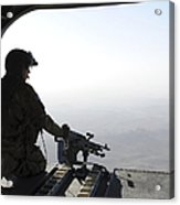 A U.s. Army Soldier Scans The Area Acrylic Print