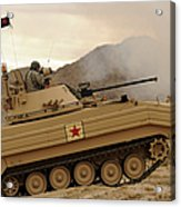 A U.s. Army Soldier Trains On An M113 Acrylic Print