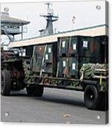 A U.s. Marine Corps Mk48 Logistics Acrylic Print