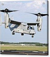 A U.s. Marine Corps Mv-22 Osprey Lifts Acrylic Print