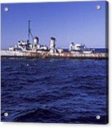 A U.s. Navy Deactivated Ship Sits Ready Acrylic Print