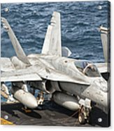 A Us Navy Fa-18c Hornet Tied Acrylic Print by Giovanni Colla