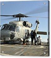 A U.s. Navy Sh-60b Seahawk Helicopter Acrylic Print