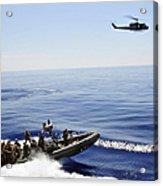A U.s. Navy Uh-1n Huey Helicopter Acrylic Print