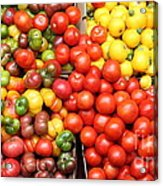 A Variety Of Fresh Tomatoes Artichokes And Celeries - 5d17901-long Acrylic Print by Wingsdomain Art and Photography