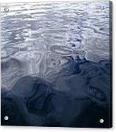A Very Calm Ocean Reflects Grey-blue Acrylic Print