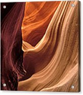 A View In A Slot Canyon Acrylic Print