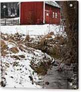 A View In Winter Acrylic Print
