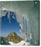 A View Of A Mountain Summit Acrylic Print