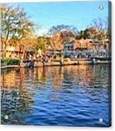 A View Of Disneyland From Tom Sawyer Island  Acrylic Print