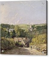 A View Of Osmington Village With The Church And Vicarage Acrylic Print by John Constable