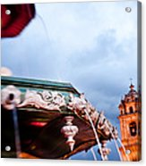 A View Of The Fountain In The Plaza De Acrylic Print