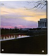 A View Of The Lincoln Memorial Acrylic Print