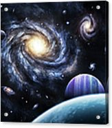 A View To A Nearby Galaxy From A Gas Acrylic Print
