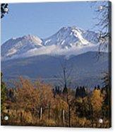 A View Toward Mt Shasta In Autumn Acrylic Print