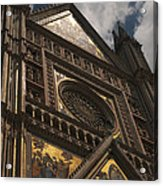 A View Upward At The Duomo Di Orvieto Acrylic Print