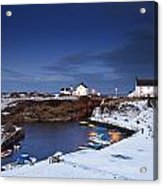 A Village On The Coast Seaton Sluice Acrylic Print