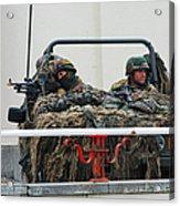 A Vw Iltis Recce Jeep On Guard Acrylic Print