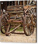 A Wagon And Wheels Acrylic Print