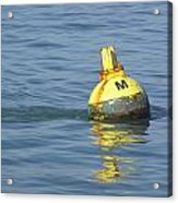 A Water Buoy In The Blue Water Of San Francisco Bay Acrylic Print