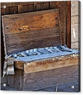 A Weathered Bench Acrylic Print