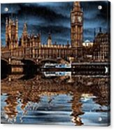 A Wet Day In London Acrylic Print
