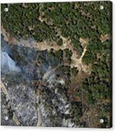 A Wildfire Burns Land Near Austin Acrylic Print