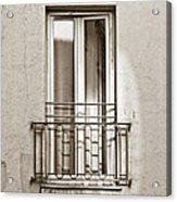 A Window In Paris Acrylic Print