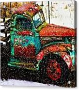 A Winter Near Taos Acrylic Print