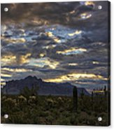 A Winter Sunrise In The Desert  Acrylic Print