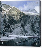 A Winter View Of The Merced River Acrylic Print