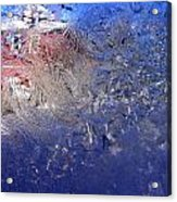 A Wintry Icy Window Acrylic Print