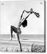 A Woman Dancing On The Shore Acrylic Print