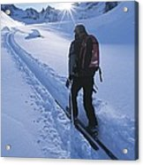 A Woman Skiing In The Selkirk Acrylic Print