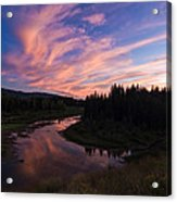 A Wyoming Sunset Acrylic Print