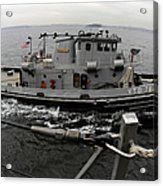 A Yokosuka Naval Tugboat Prepares Acrylic Print