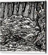 Aaron Battles The Ogre Acrylic Print