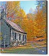 Abandoned Church Acrylic Print by Alan Lenk